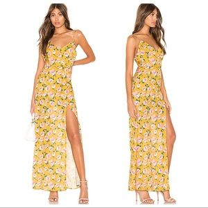 NEW superdown Lorie Slit Maxi Dress